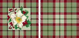miniature needlepoint pillow doll's house winter rose chart